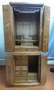 家具調仏壇,木彫り2
