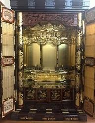 仏壇,200代 軸開 前彫 紫丹3