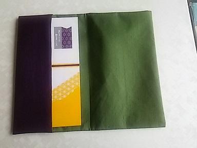 ふくさ,3リバーシブル金封ふくさ(紫色x深緑色)2