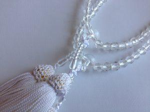 女性用2連数珠,プラスチック 人絹房2