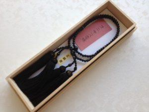 女性用2連数珠,オニキス 正絹房(黒)1