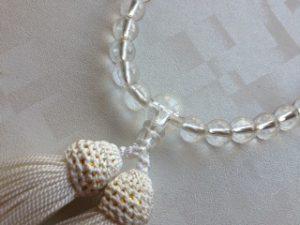 女性用数珠,白水晶三十七珠 正絹房2