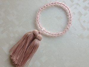 女性用数珠,プラスチックピンク(小さなお子様用)1