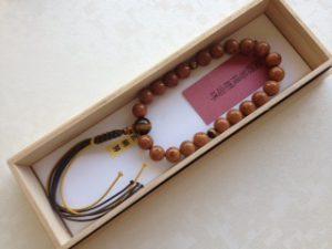 男性用数珠,菩提樹 正絹房1