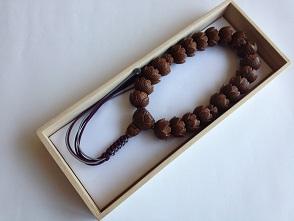 男性用数珠,木彫り 正絹房1