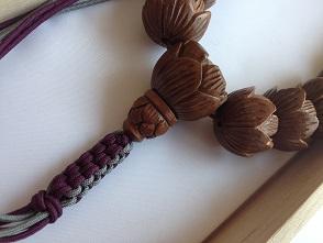 男性用数珠,木彫り 正絹房2