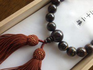 男性用数珠,鉄虎目二十二珠 正絹房2