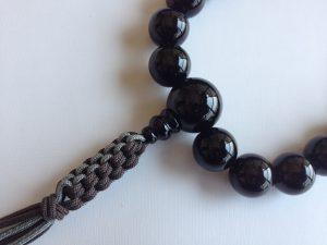 男性用数珠,青虎目 正絹房2