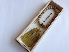 男性用数珠,星月菩提樹虎目入り 正絹房1