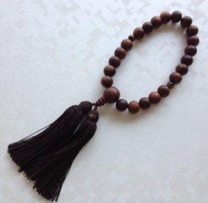 男性用数珠,紫檀 人絹房1