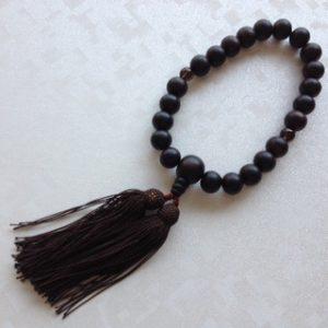 男性用数珠,黒檀 人絹房1