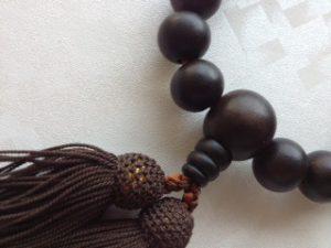 男性用数珠,黒檀 人絹房2