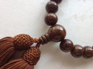 男性用数珠,男性用数珠,紫檀(艶あり)人絹房2
