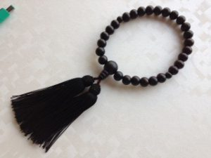 男性用数珠,縞黒檀素挽 人絹房1