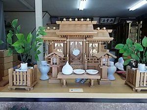 神棚,欅 屋根違い三社1