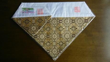 打敷,9京金襴西陣織り(上卓用付き)