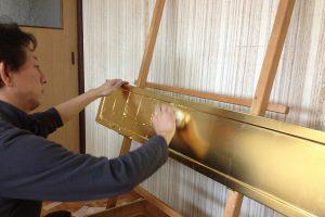 仏壇修理,金箔貼り