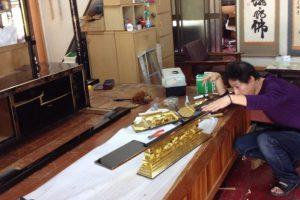 仏壇修理,修理作業